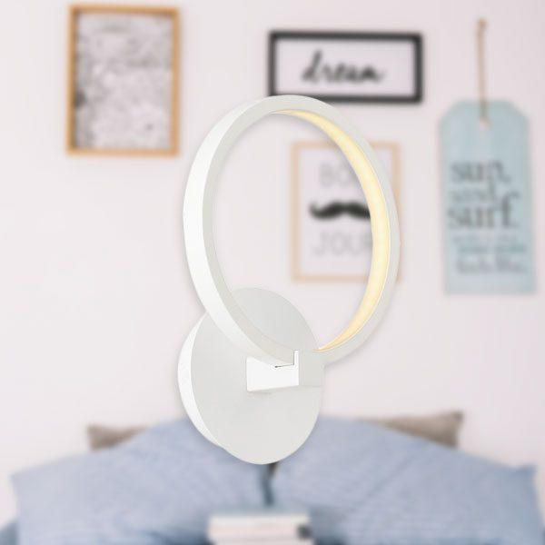 Aplica cu LED de perete cu un inel - 12W