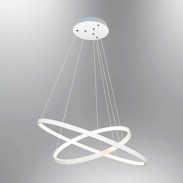 Lustra suspendata LED cu 2 inele reglabile