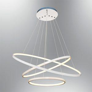 Lustra suspendata LED cu 3 inele reglabile