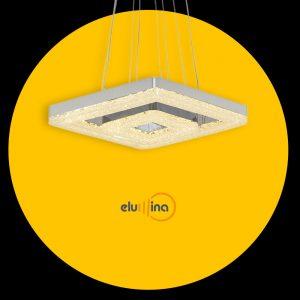 Lustra suspendata LED cu doua forme reglabile