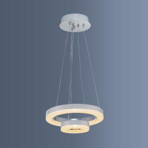 Lustra suspendata LED cu doua inele reglabile