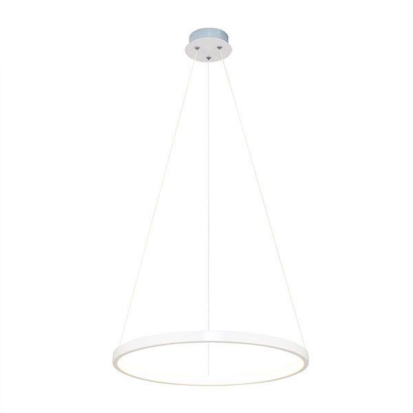 Lustra suspendata LED cu un inel alb