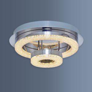 Plafoniera eleganta cu LED si doua inele
