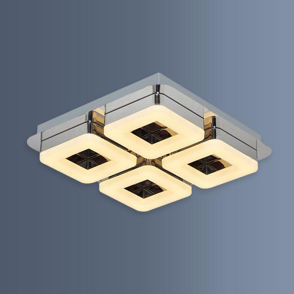 Plafoniera eleganta cu LED si patru forme patrate