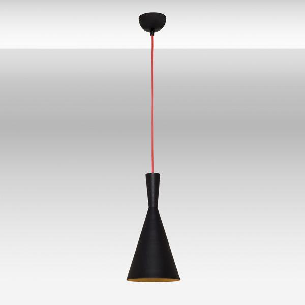 Lustra din metal de culoare neagra si interior auriu - colectia RED